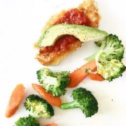 Chicken Avocado Parmesan Gluten and Dairy Free