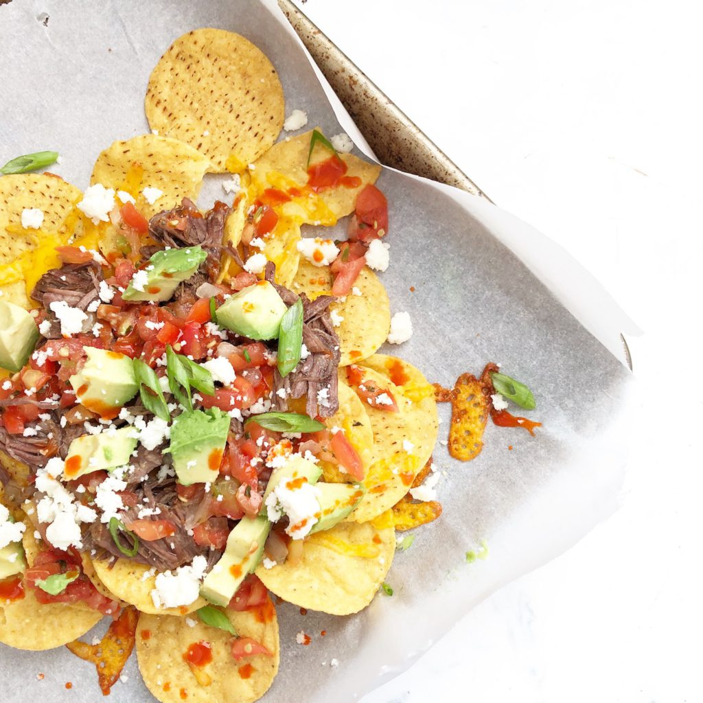 instant pot barbacoa beef nachos
