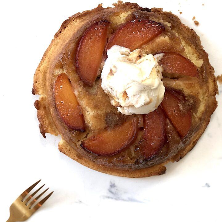 upside down peach buttercake