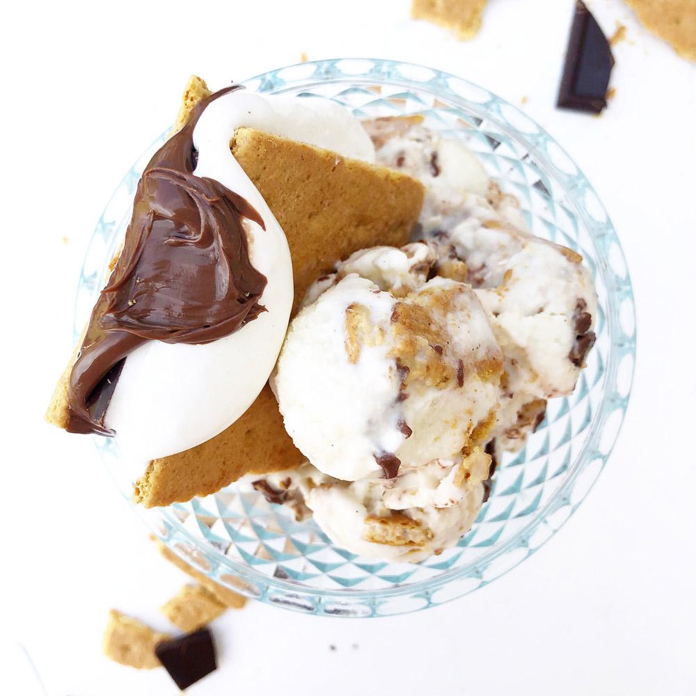 Nutella S'more Gelato