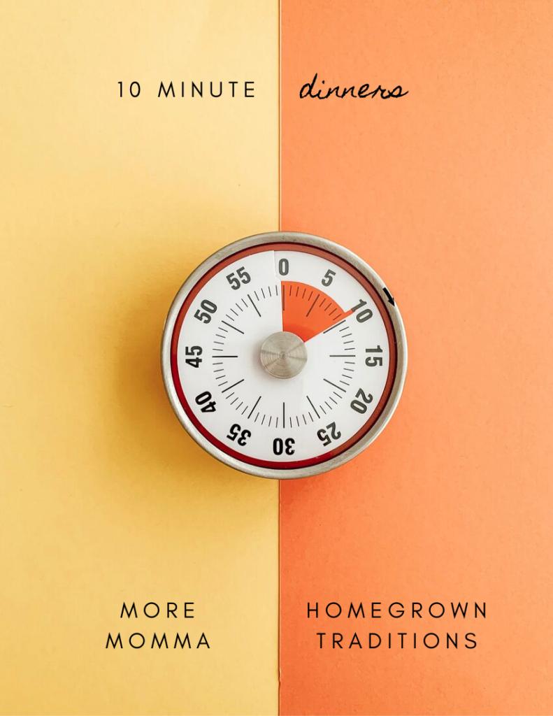 10 minute meal cookbook