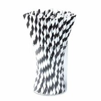 100-pack Paper Drink Straws Biodegradable - Value Pack Eco-frendly Straws Bulk with for Party Supplies | Birthday | Wedding | Bridal | Baby Shower | DIY