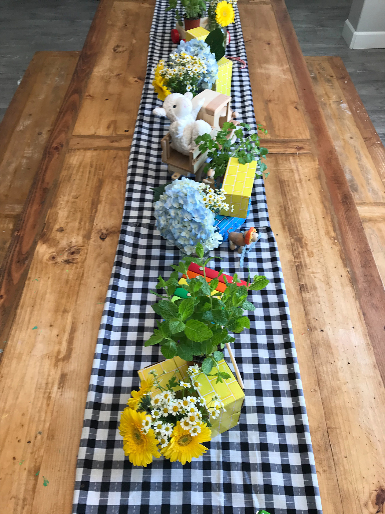 Baby Boy Table decor