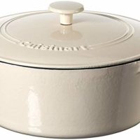 Cuisinart Casserole Cast Iron, Cream, 7 quart
