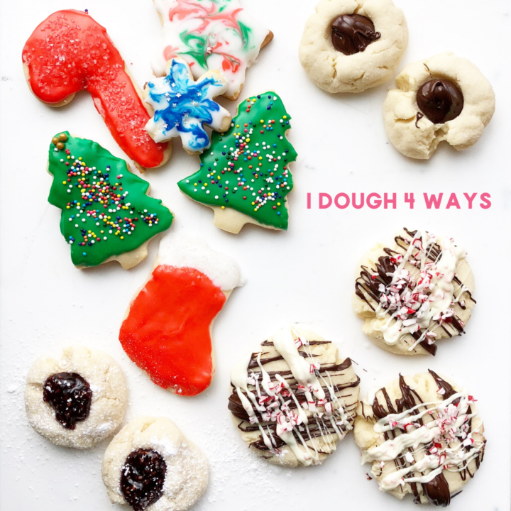 four different types of cookies