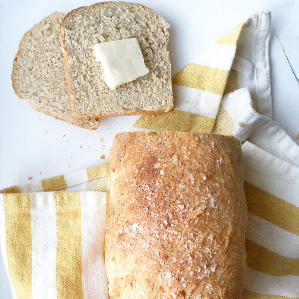 Whole wheat bread with butter