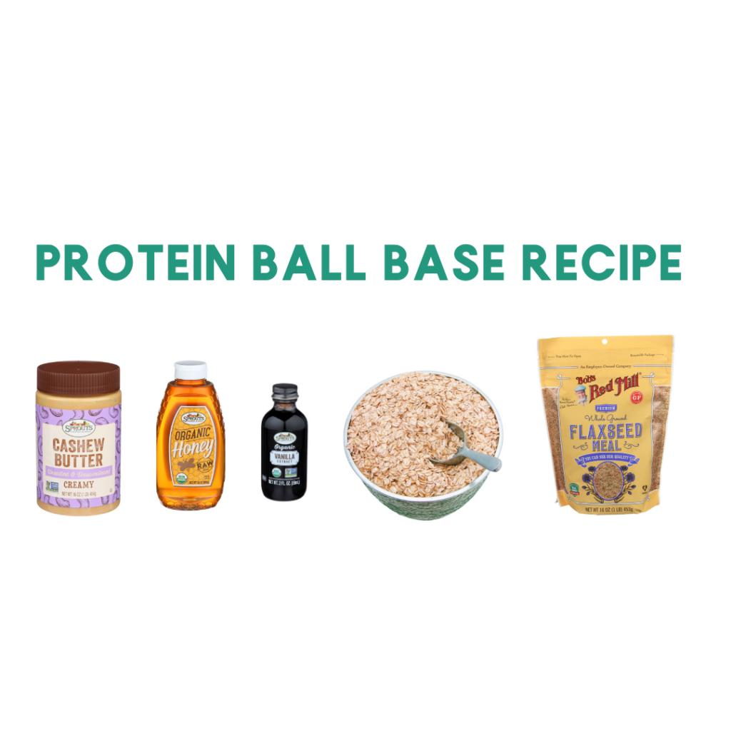 ingredients to make protein balls