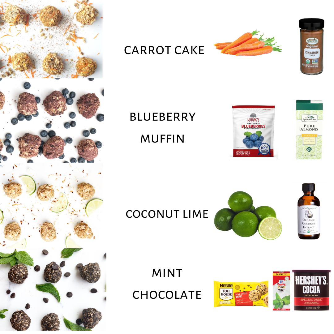 different protein ball variations