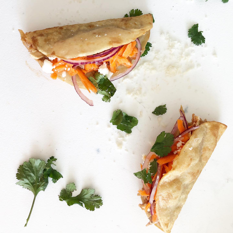 crunchy asian chicken tacos