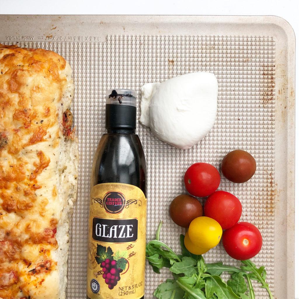 ingredients for caprese flatbread