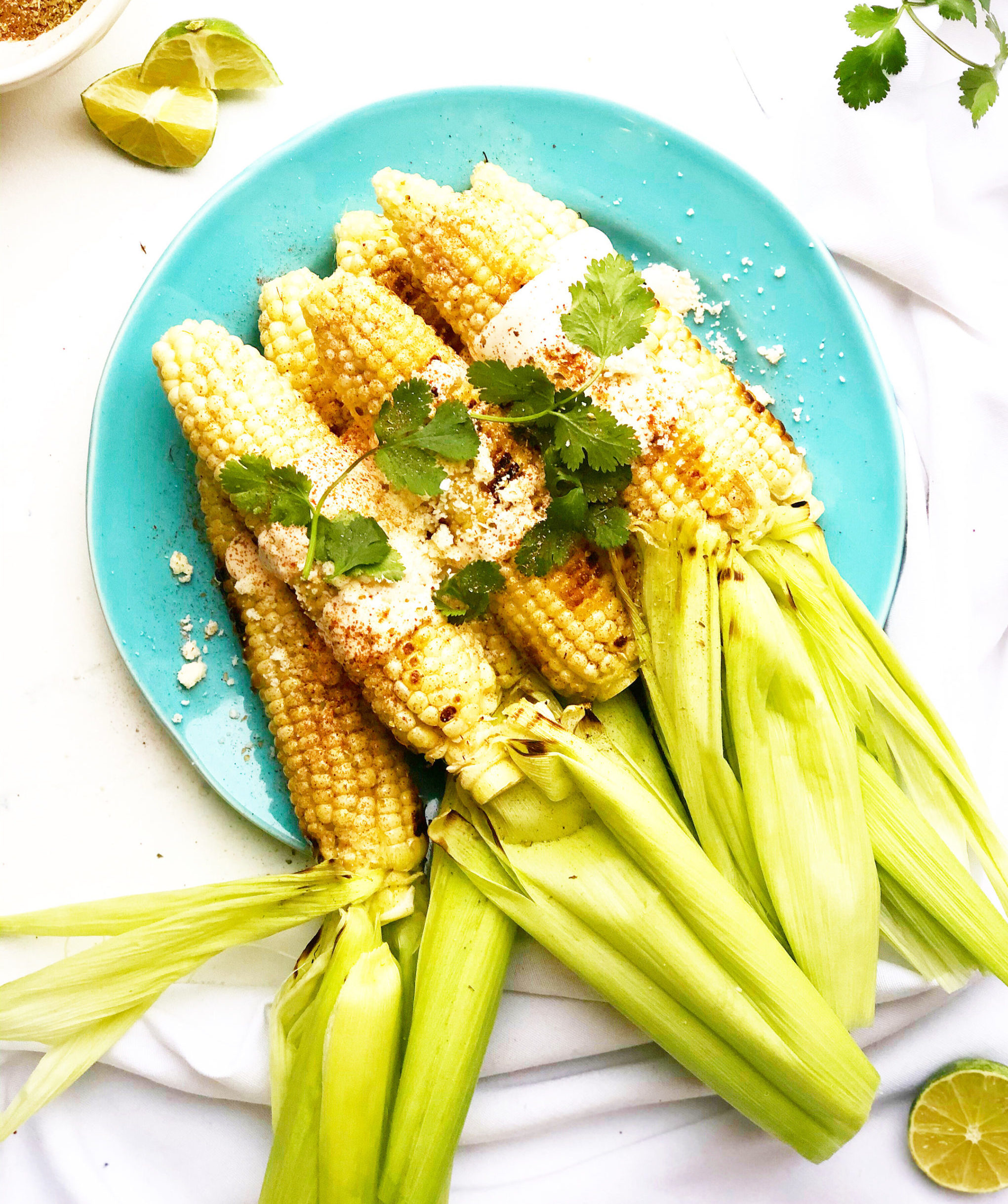 Easy Grilled Mexican Street Corn
