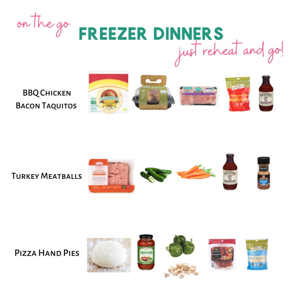 On the go freezer meals