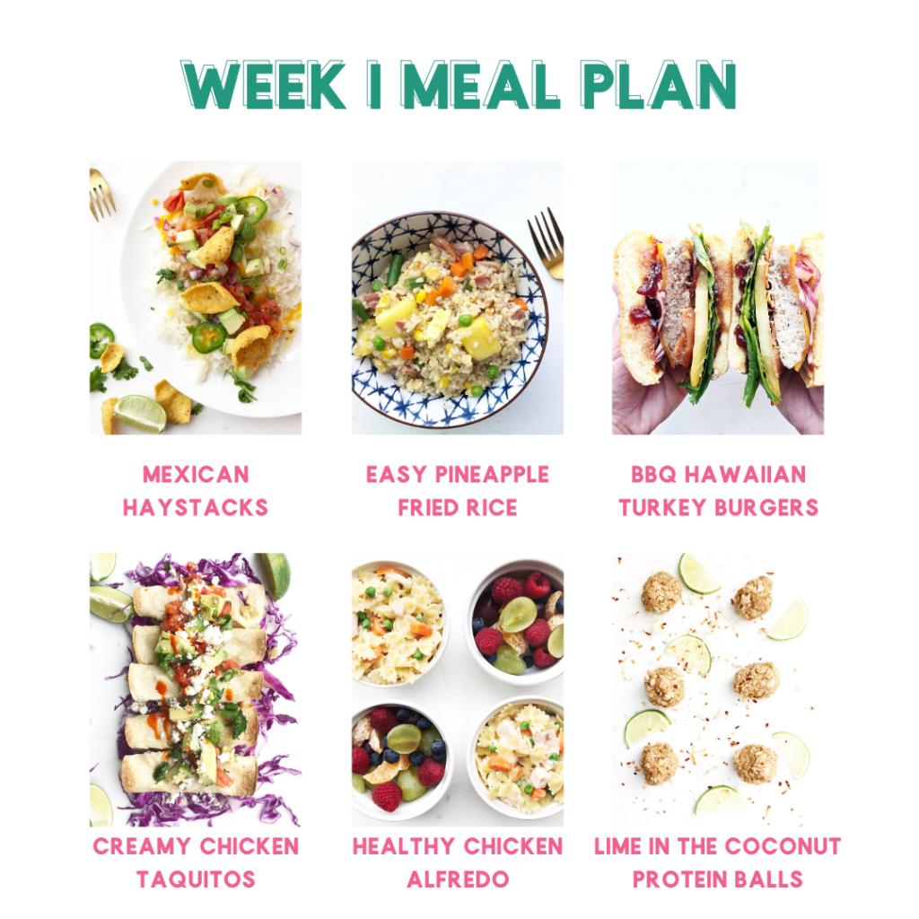 Spring Meal Plan Sample