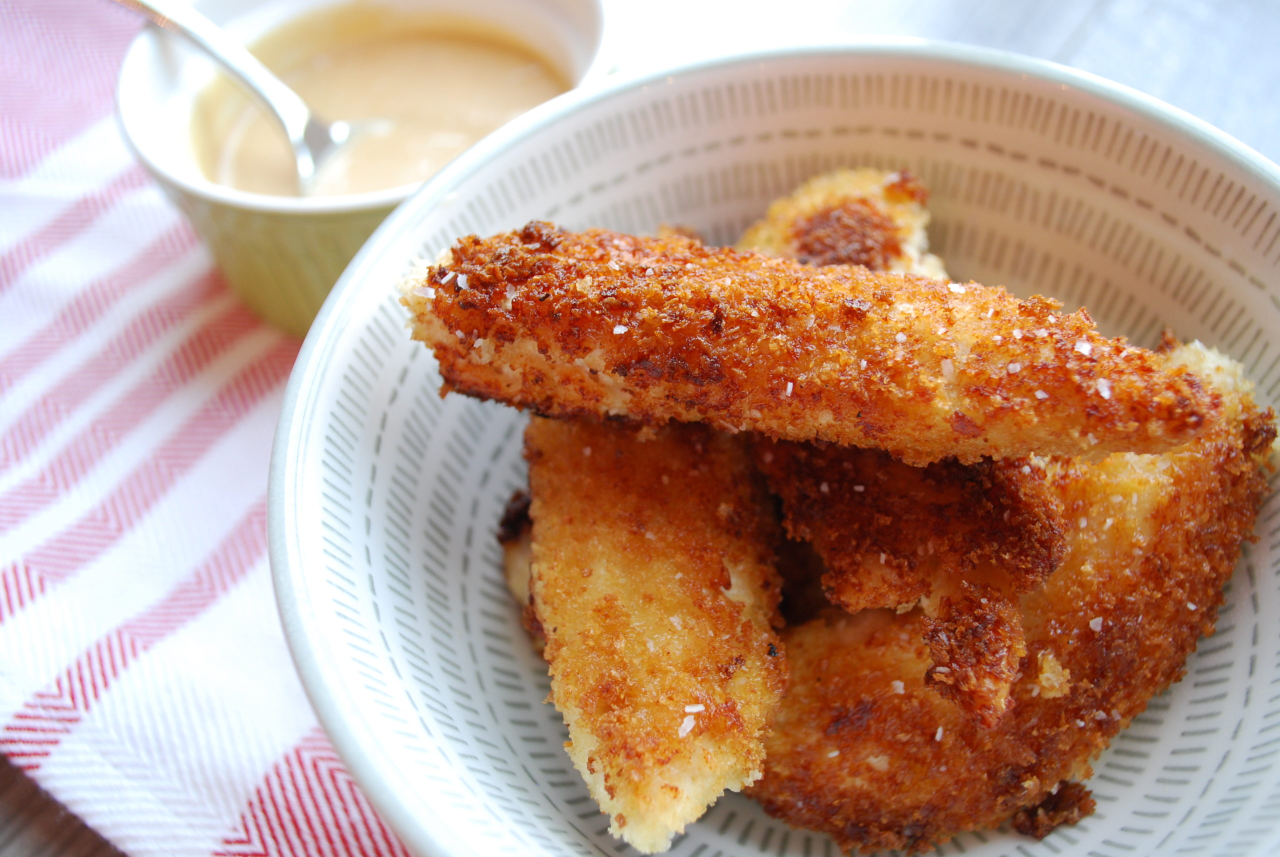 Copy cat chick fil a chicken tenders with chick-fil-a sauce