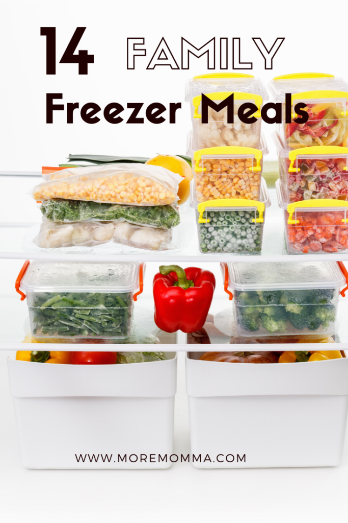 14 family freezer meals