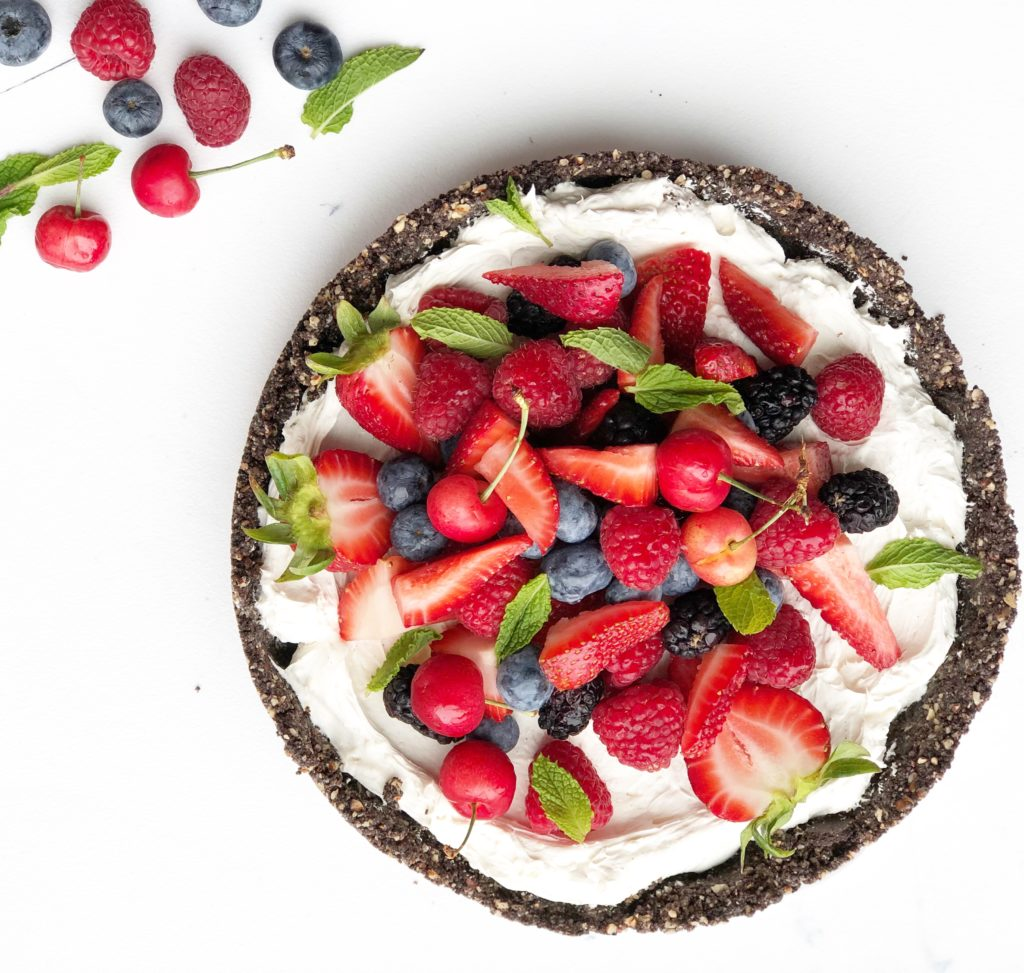 Whole Summer Berry No-Bake Cheesecake Tart