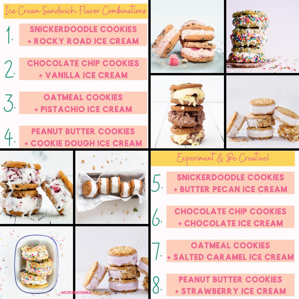 Ice Cream Sandwich Flavor Combinations