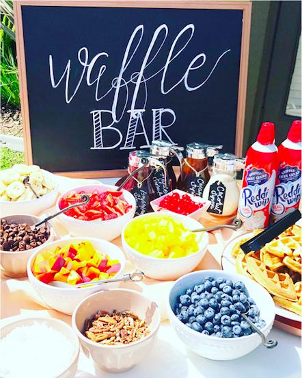 Waffle Bar Display