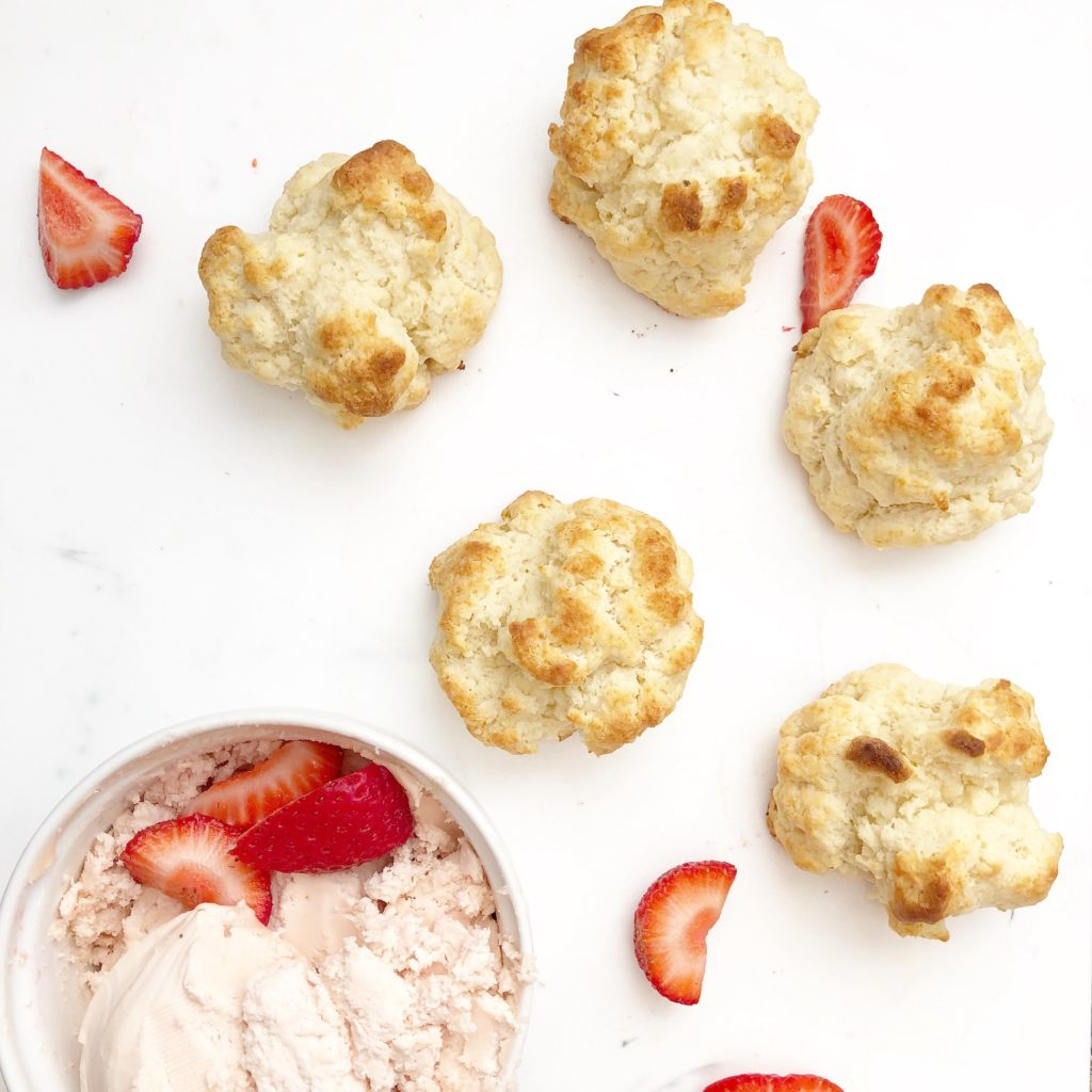 buttermilk biscuits with strawberry butter