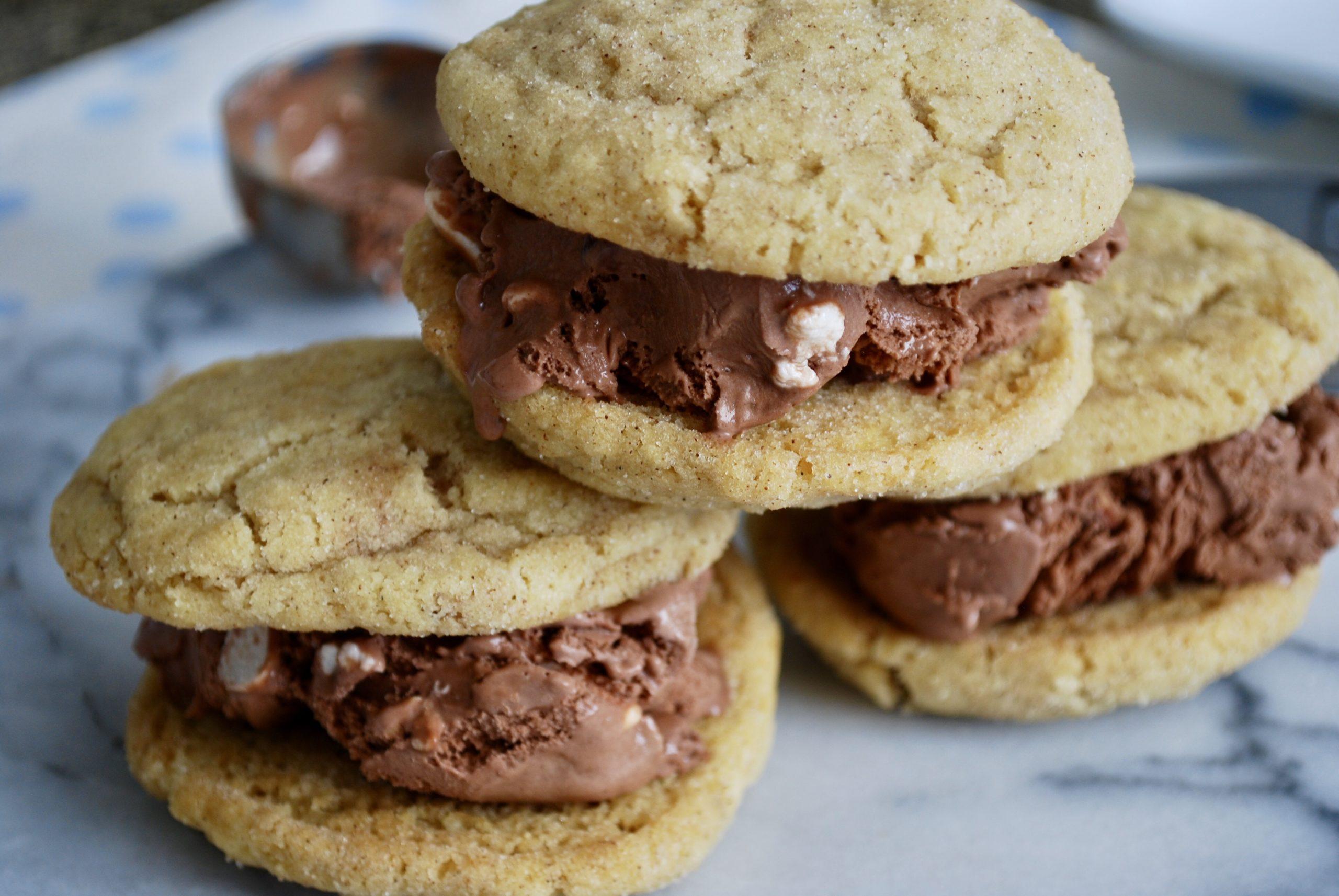 Gluten-Free Snickerdoodle Ice Cream Sandwiches