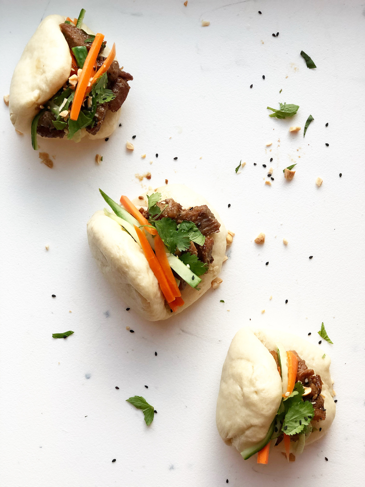 pork bao buns made in the instant pot