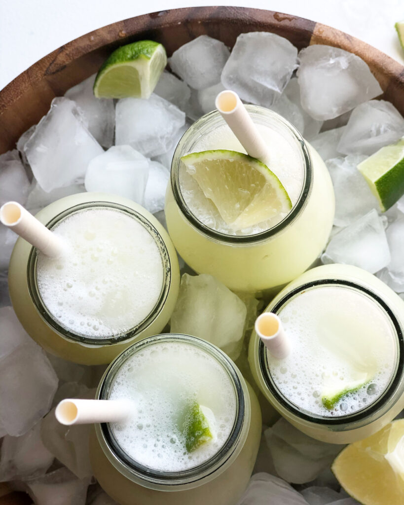 brazilian limeade in glasses