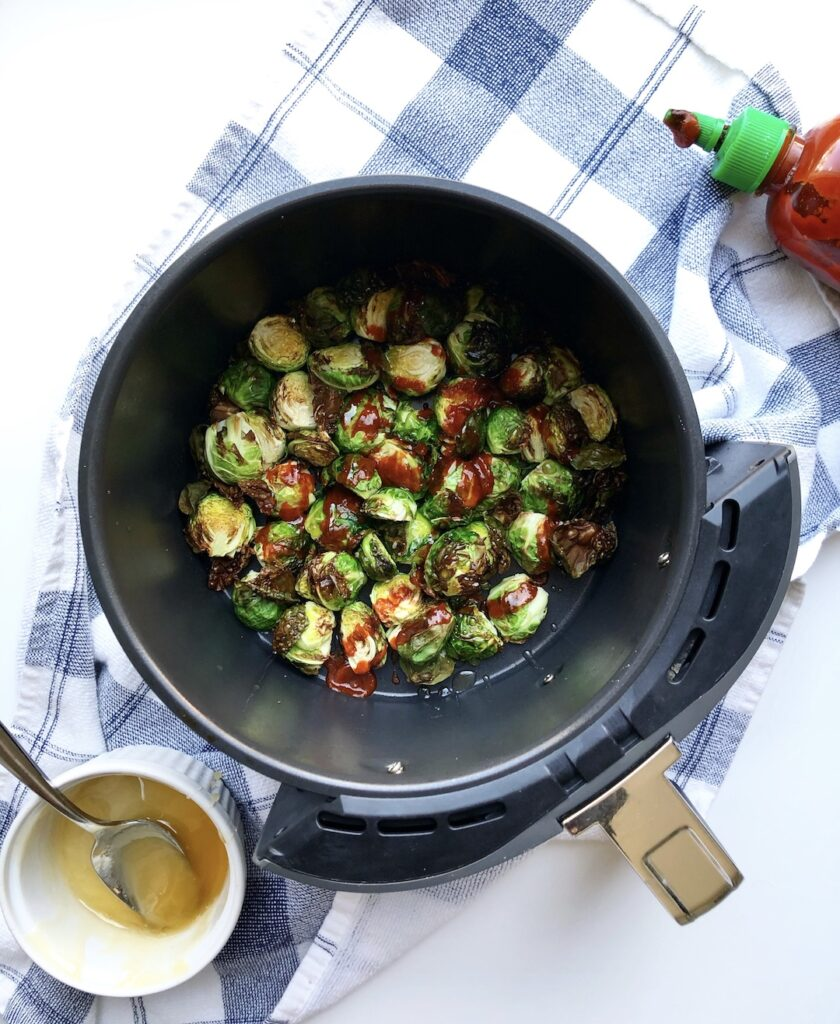 Air Fryer Brussels Sprouts With Honey and Sriracha