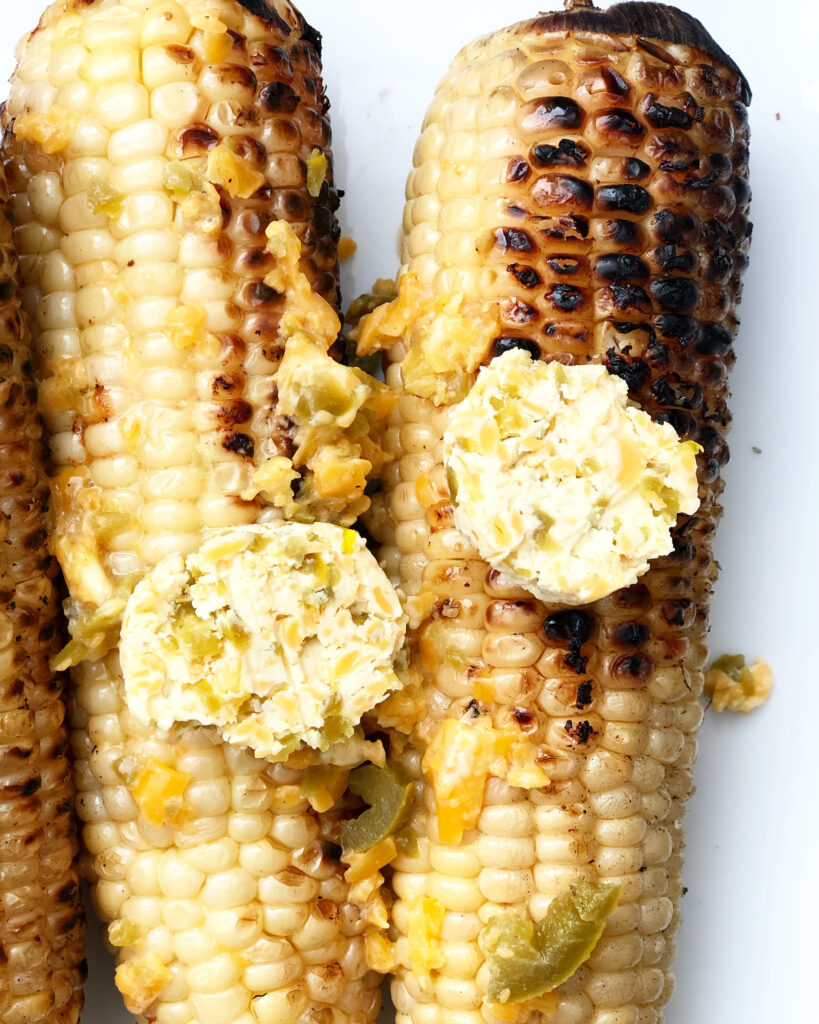 grilled corn with jalapeno cheddar butter