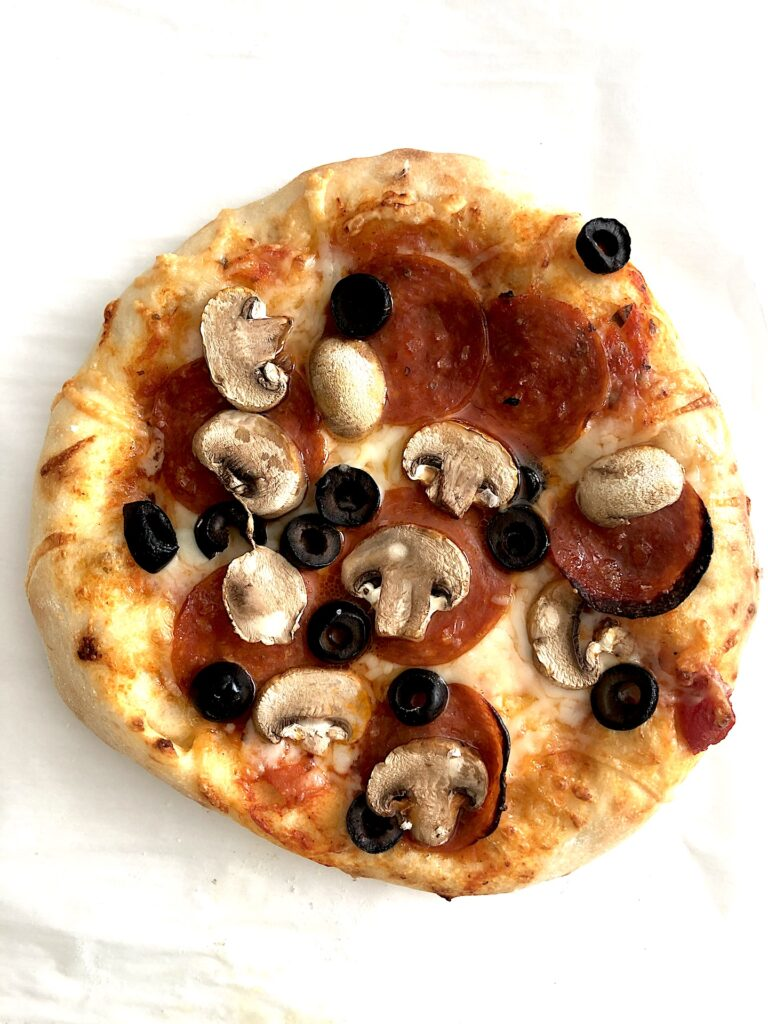 Sourdough starter pizza dough