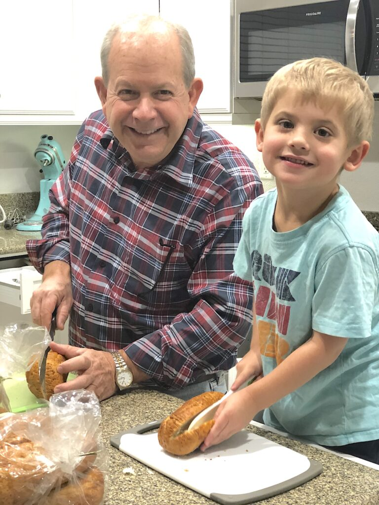 cooking with grandparent