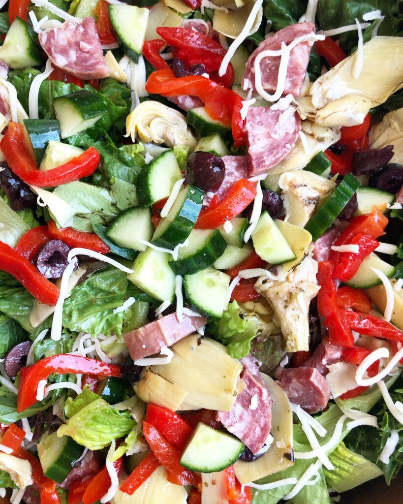 Antipasto salad ingredients
