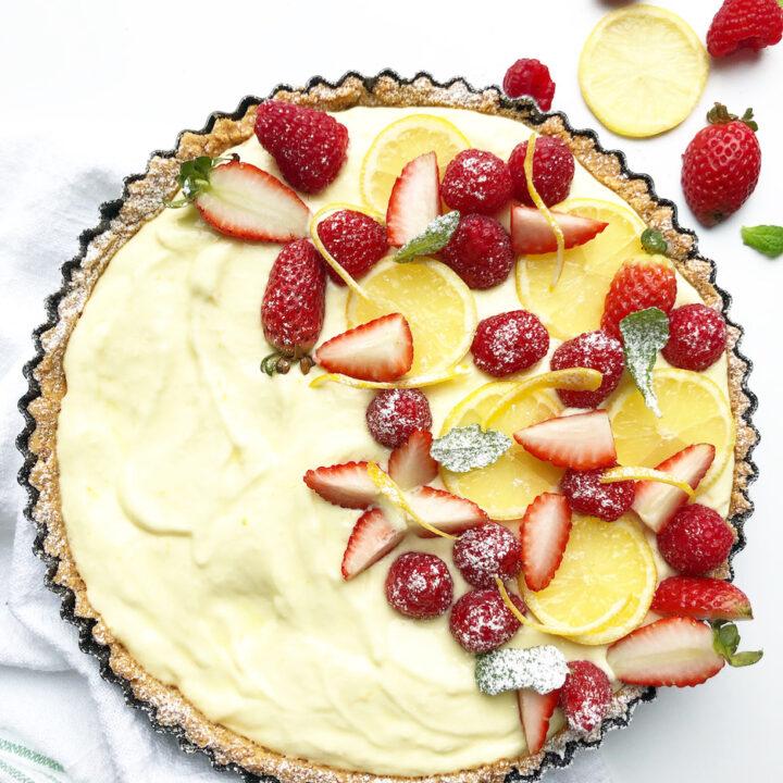 Creamy Lemon Tart With Fresh Berries
