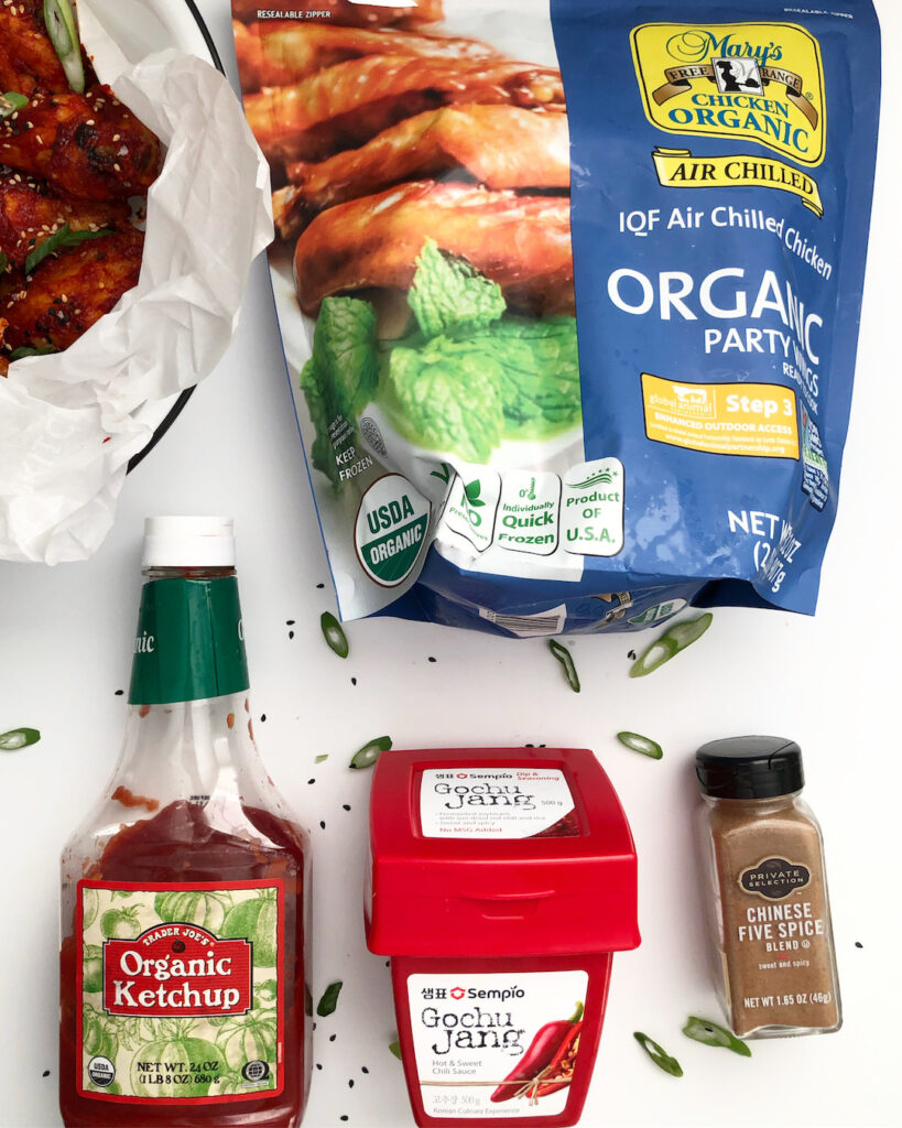 Ingredients For Korean Style Frozen Air Fryer Chicken Wings