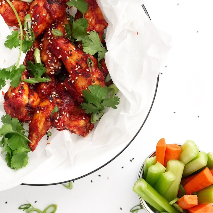 Air Fryer Korean Style Chicken Wings