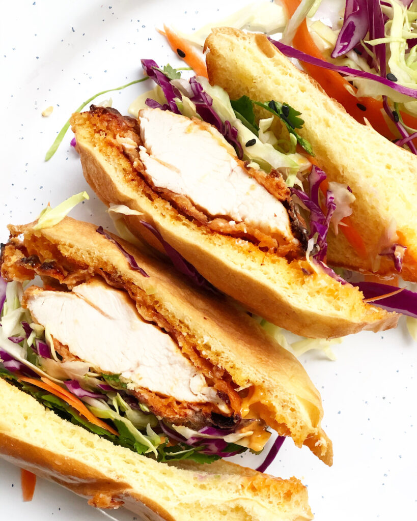 Air Fryer Korean Fried Chicken Sandwich