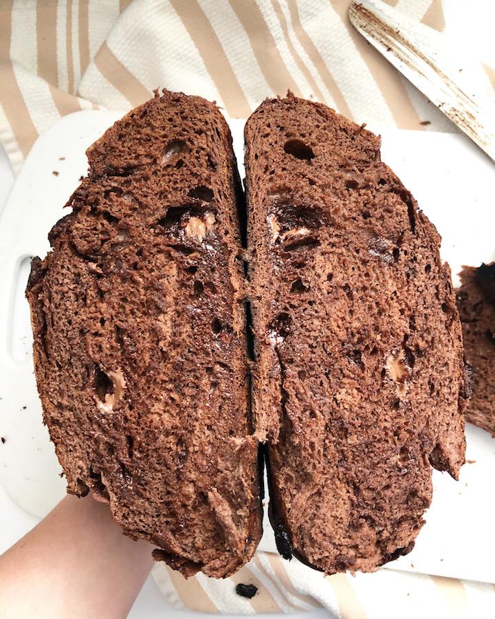 chocolate sourdough bread