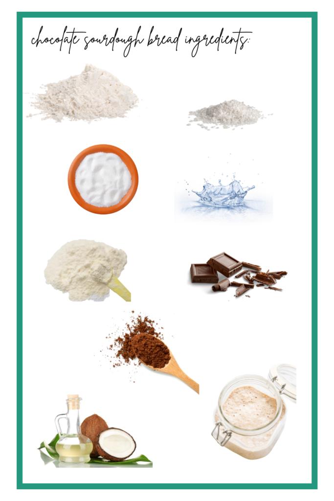 chocolate sourdough bread ingredients