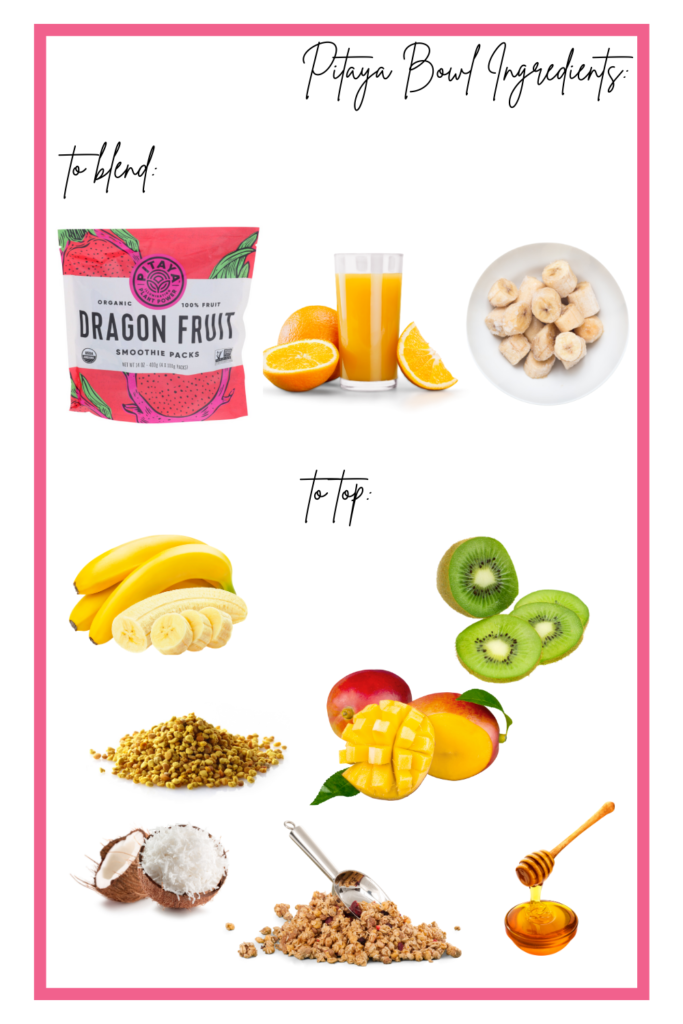 Pitaya bowl ingredients