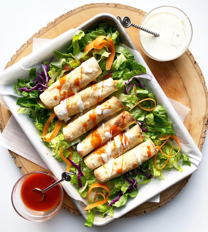 Instant Pot Buffalo Chicken Taquitos