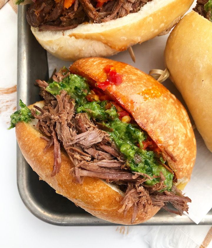 Authentic Italian Beef Sandwich