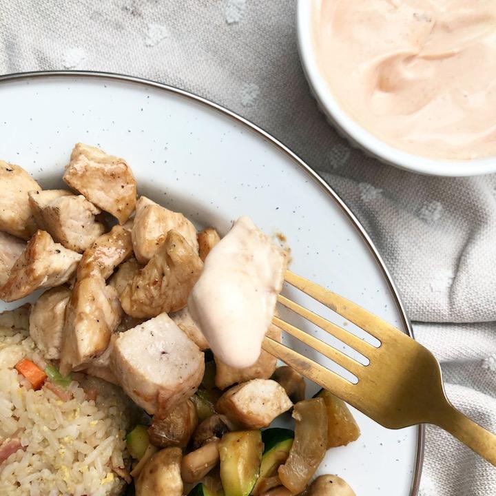 Hibachi Chicken With Yum Yum Sauce