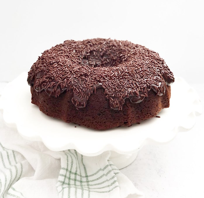 Brigadeiro Bundt Cake With Dulce De Leche