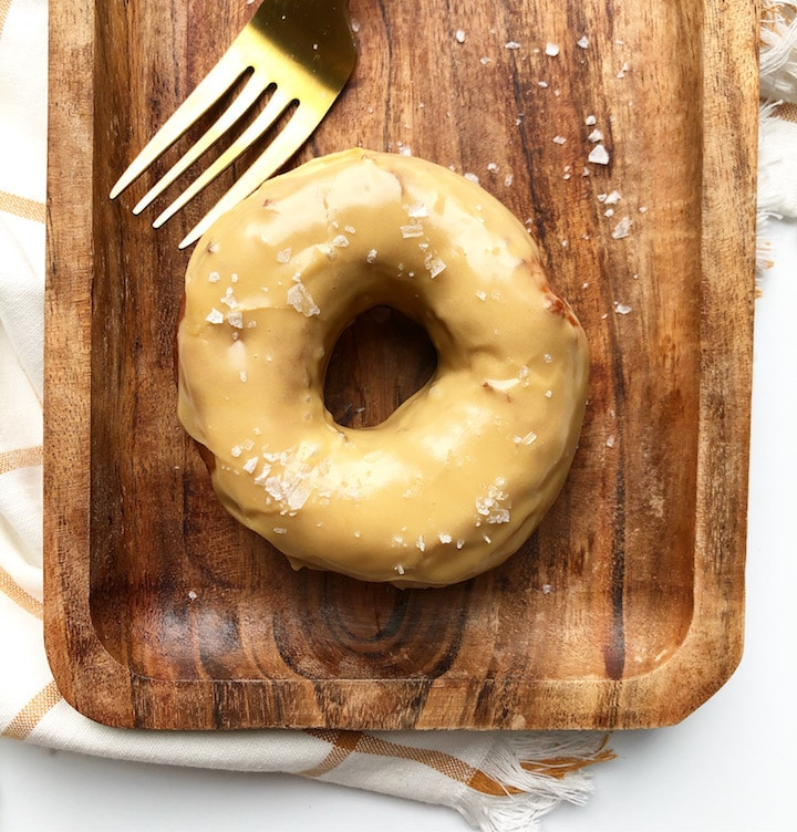 Salted Caramel Sourdough Donuts