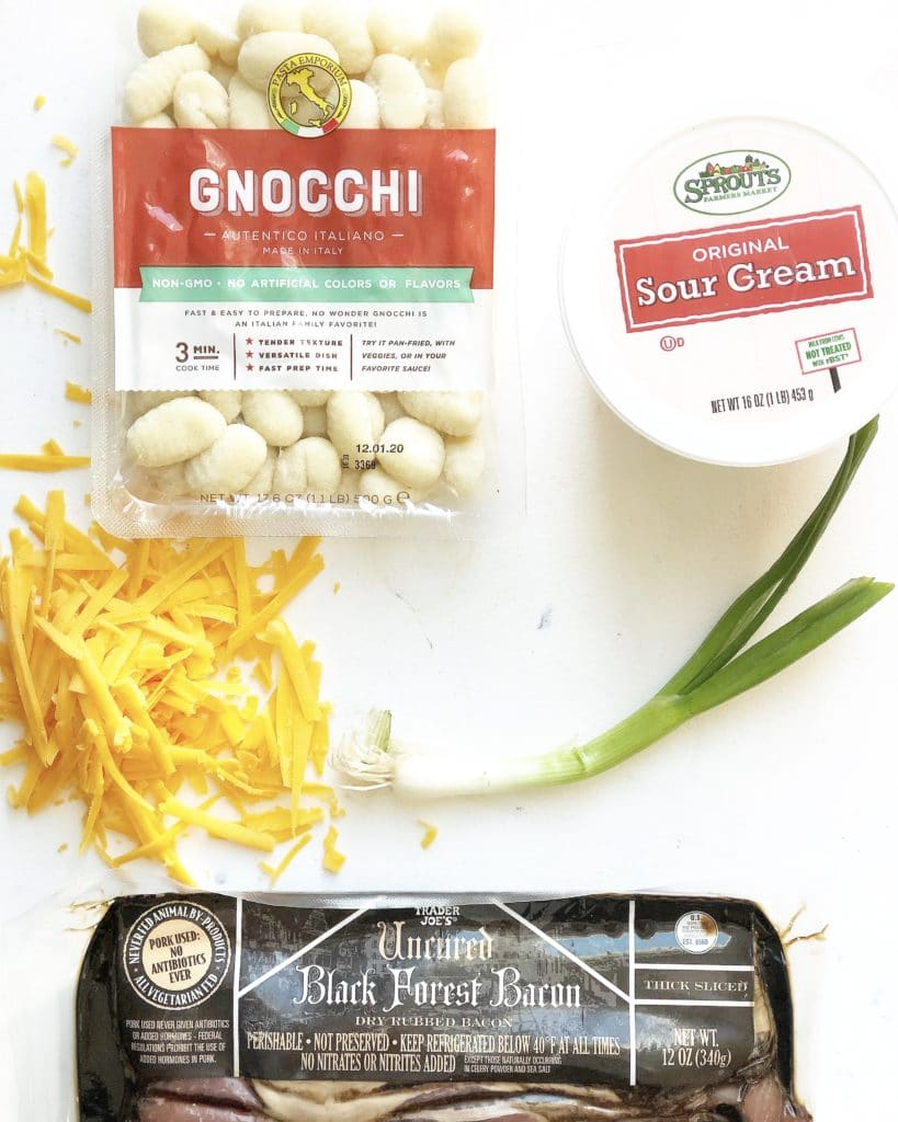 ingredients for pan seared gnocchi