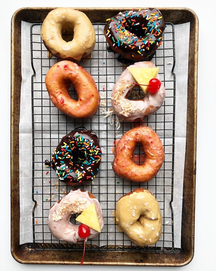 Sourdough Donuts 4 Ways