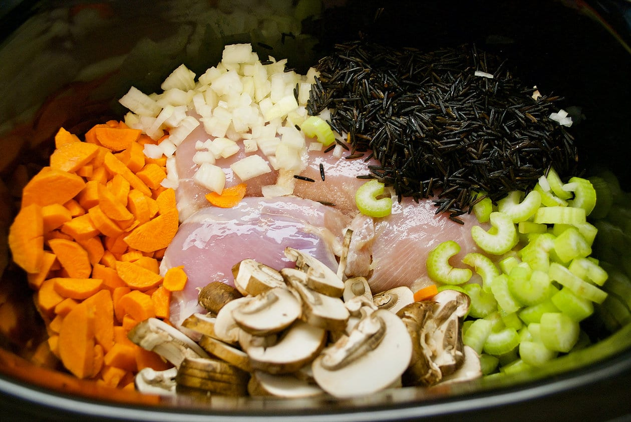 ingredients for chicken wild rice soup