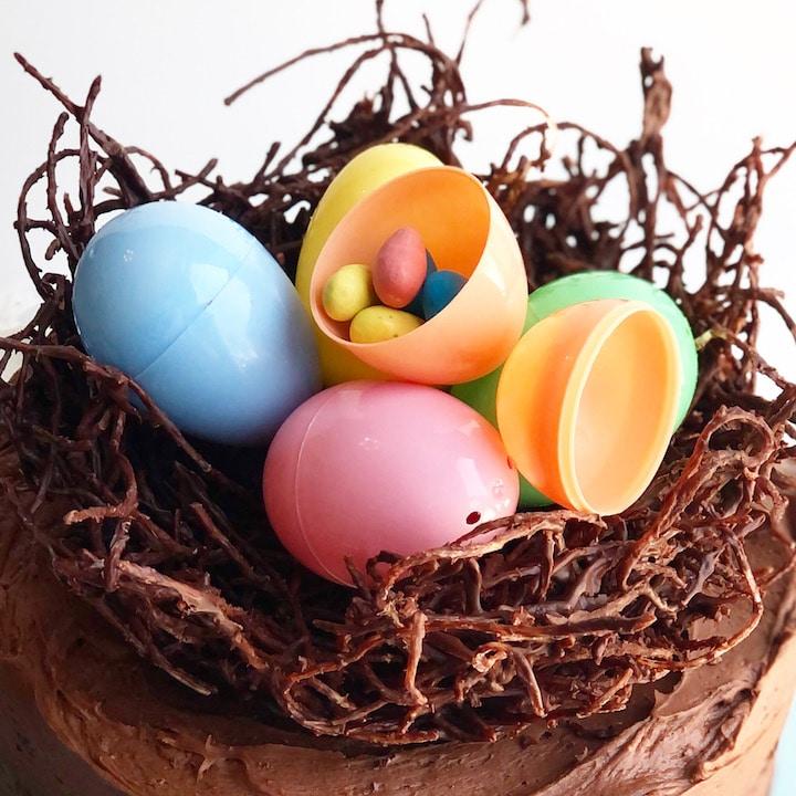 Easter Egg Filled Nest Cake