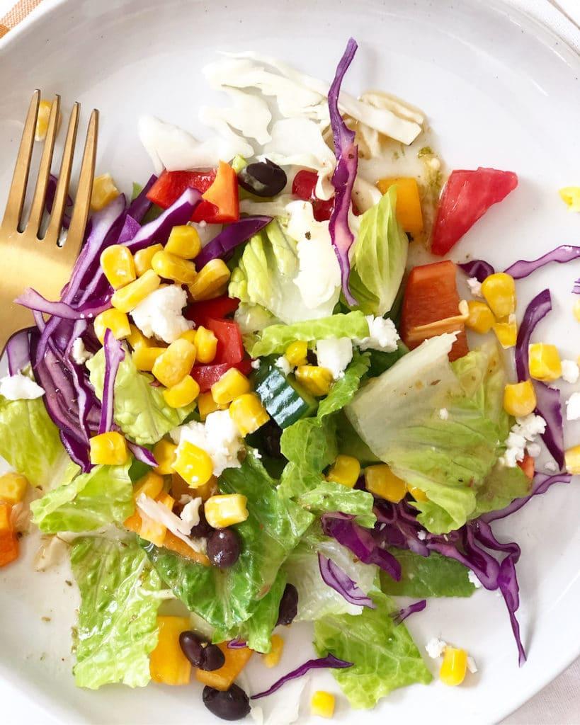Mexican salad with honey lime vinaigrette