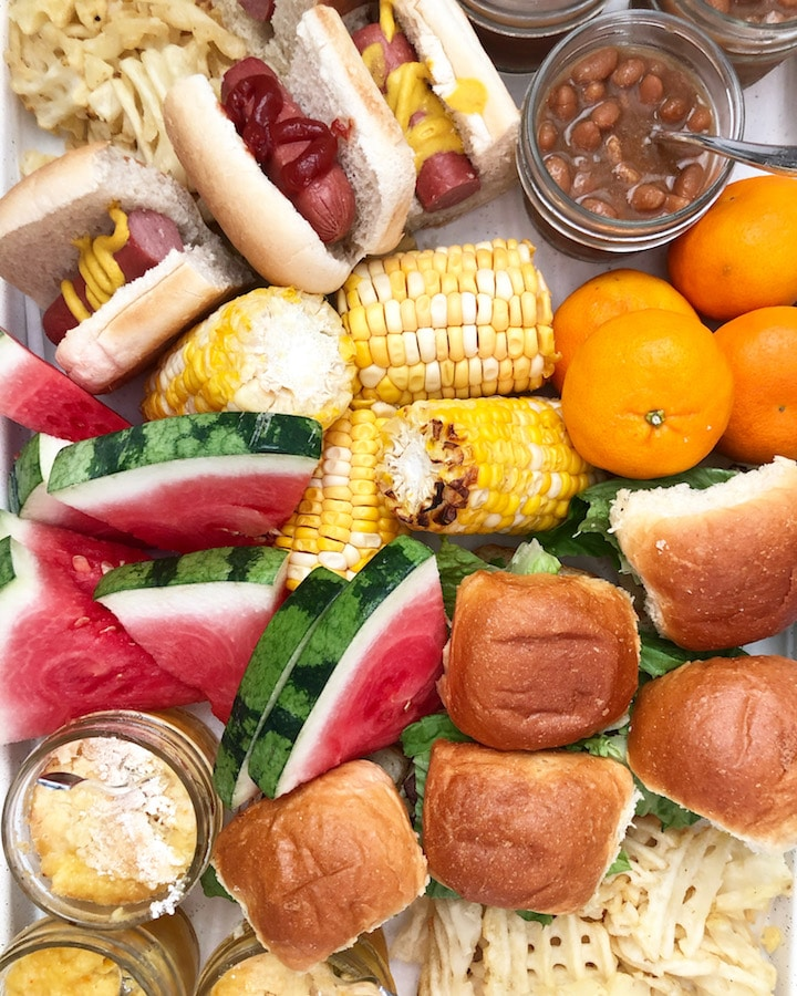 Kids Grill Out Food Board