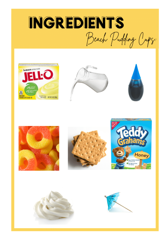 Ingredients For Beach Cups
